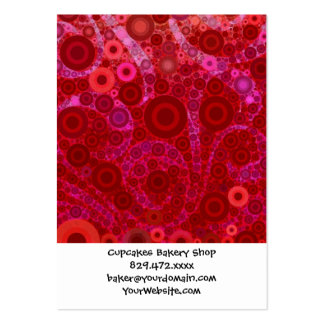 Hot Pink Purple Concentric Circles Mosaic Swirls Business Card Template