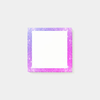 Hot Pink Purple Glitter Sparkle Faux Texture Post-it Notes