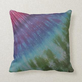 Hot Pink Purple Green Tie Dye American MoJo Pillow