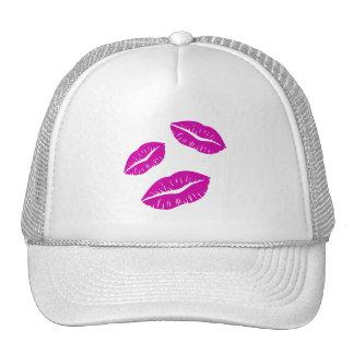 HOT PINK PURPLE KISSES LIPS LOVE ICONS MOTIVATIONA CAP