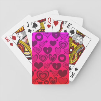 Hot Pink Purple Ombre Hearts Valentines Day Gifts Playing Cards