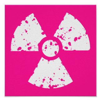 Hot Pink Radioactive sign