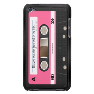 Hot Pink Retro Cassette Tape Personalised Case Case-Mate iPod Touch Case