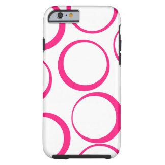 Hot pink retro Circles design phone case