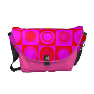 Hot Pink Retro Pattern Commuter Bags