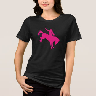 Hot Pink Rodeo Horse Riding Country Cowgirl Art T-Shirt