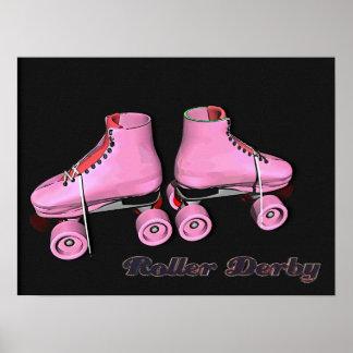 Hot Pink Roller Derby Poster