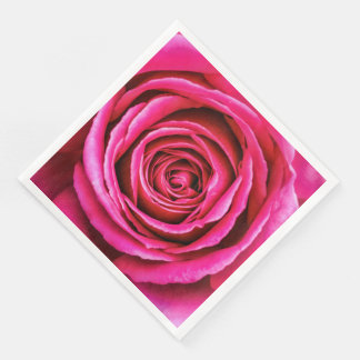 Hot Pink Rose Disposable Serviettes