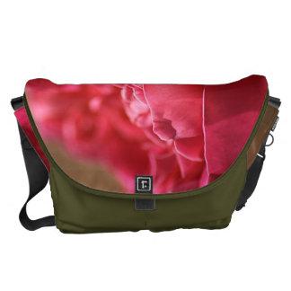 Hot Pink Rose - Large Messenger Bag Outside Print