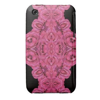 Hot Pink Roses Black Case-Mate iPhone 3 Case