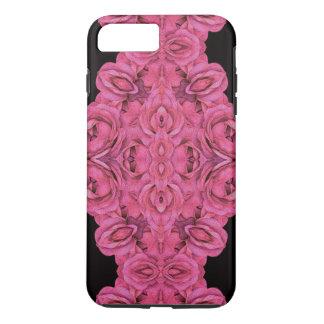 Hot Pink Roses Black iPhone 8 Plus/7 Plus Case