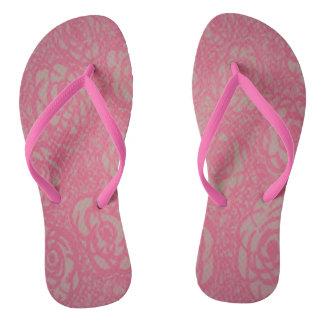 Hot Pink Roses Flip Flops