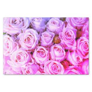 Hot PInk Roses Tissue Paper