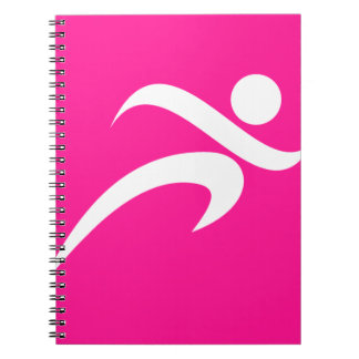 Hot Pink Running; Runner Spiral Notebook