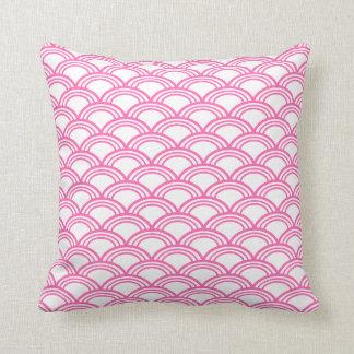 Hot Pink Seigaiha Pattern Cushion