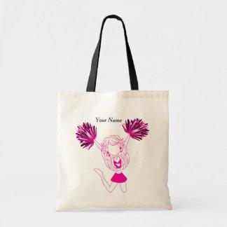Hot Pink Silhouette Cheerleader Girl