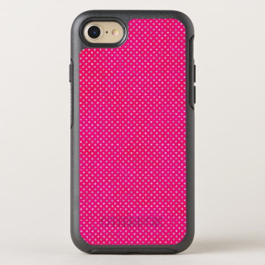 Hot Pink & Silver Glitter Polka Dots OtterBox Symmetry iPhone 8/7 Case