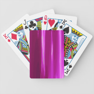 Hot Pink simple Design Bicycle Playing Cards