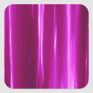 Hot Pink simple Design Square Sticker