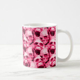 Hot Pink Skulls Coffee Mug