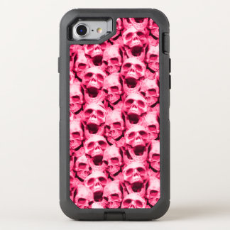 Hot Pink Skulls OtterBox Defender iPhone 8/7 Case
