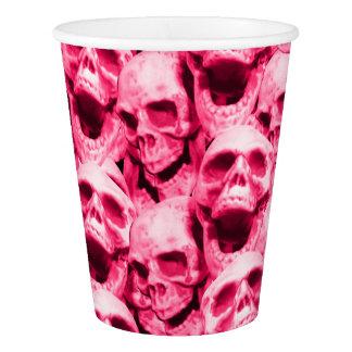 Hot Pink Skulls Paper Cup