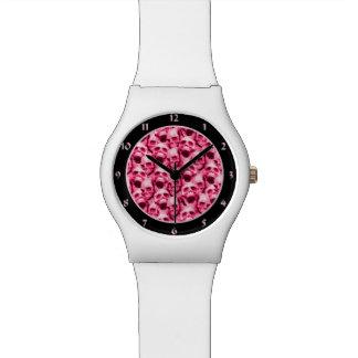 Hot Pink Skulls Watch