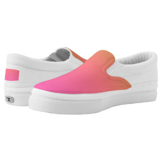 Hot pink slip on shoes