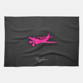 Hot Pink Small Plane Hand Towel