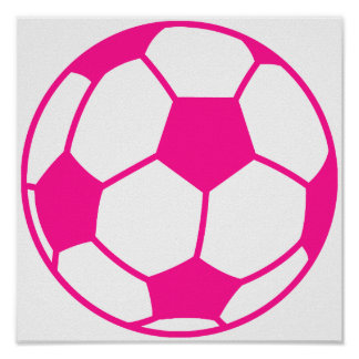 Hot Pink Soccer Ball Posters