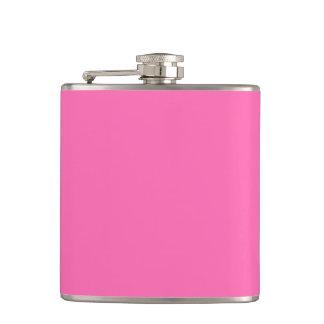 Hot Pink Solid Color Hip Flasks