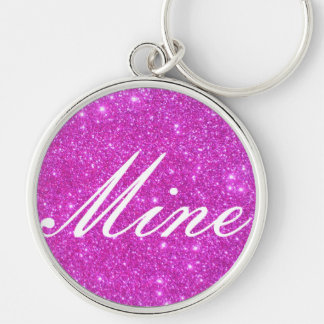 Hot Pink Sparkle Glittery CricketDiane Art Key Chain