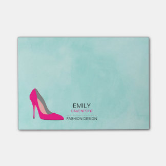 Hot Pink Stiletto High Heel Shoe Chic Business Post-it Notes