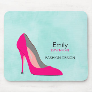 Hot Pink Stiletto High Heel Shoe Chic Personalized Mouse Pad