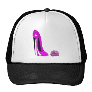 Hot Pink Stiletto Shoe and Rose Cap