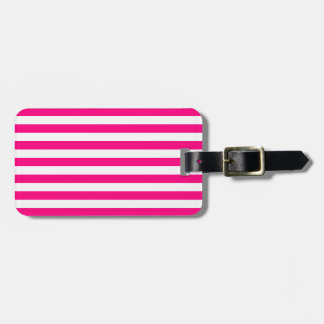 Hot Pink Stripes Pattern Luggage Tag