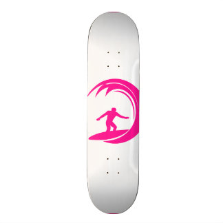 Hot Pink Surfing Custom Skate Board