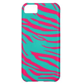 Hot Pink Teal Zebra Mate ID™ iPhone 5 Case