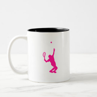 Hot Pink Tennis Two-Tone Coffee Mug