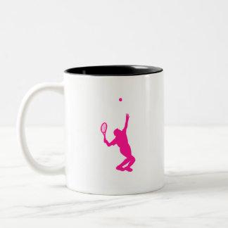 Hot Pink Tennis Two-Tone Mug