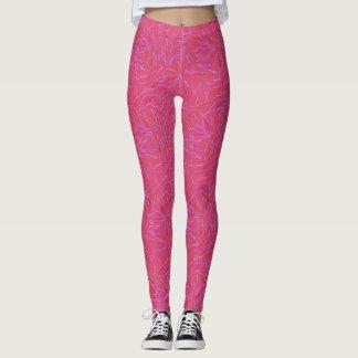 Hot Pink Textured Leggings