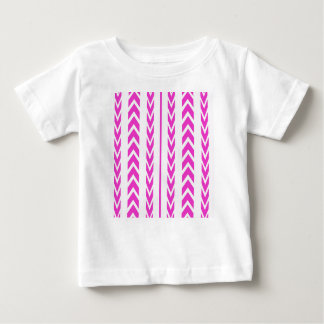 Hot Pink Tire Tread Baby T-Shirt