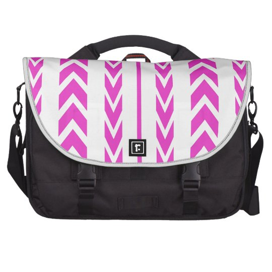 Hot Pink Tire Tread Bag For Laptop