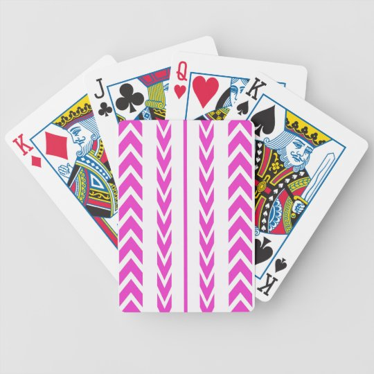 Hot Pink Tire Tread Bicycle Playing Cards
