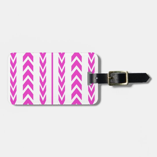 Hot Pink Tire Tread Luggage Tag