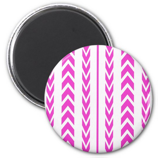 Hot Pink Tire Tread Magnet