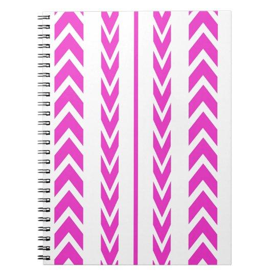 Hot Pink Tire Tread Notebooks