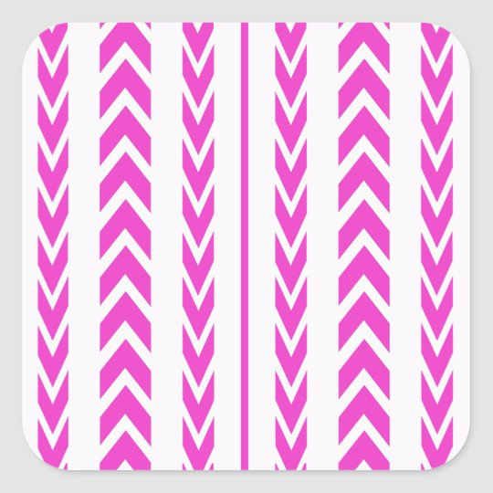 Hot Pink Tire Tread Square Sticker