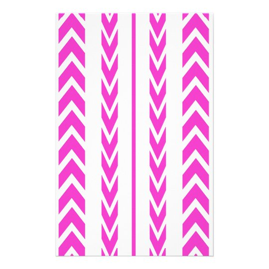 Hot Pink Tire Tread Stationery