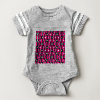 Hot pink triangles baby bodysuit